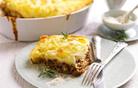 use either ground lamb (which makes it Shepherd's Pie), ground beef, which makes it Cottage Pie