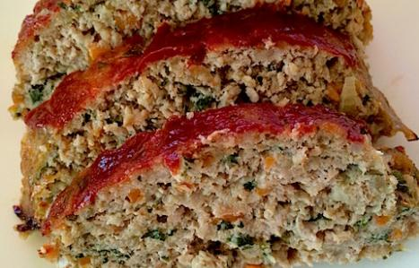 3 slices of Turkey Meatloaf